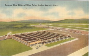 Postcard of Fort Crook Bomber Assembly Plant
