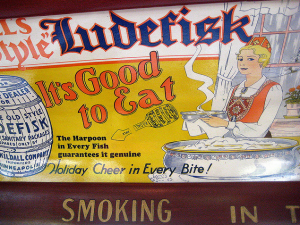 Old Ludefisk Advertisement