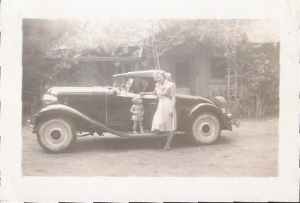 Milly and Susan with Lorne's car
