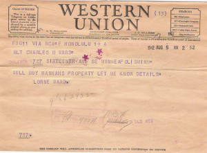 Telegram from Lorne