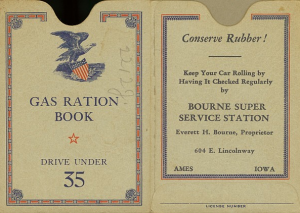 Gas Ration Book