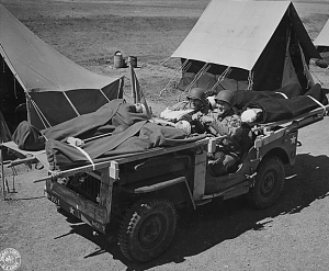 Improvised Jeep Ambulance, Camp Carson