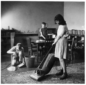 House cleaning, 1940s