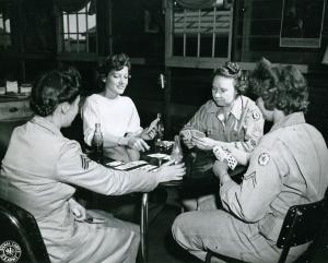 WAC Women Playing Bridge