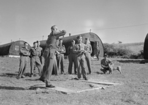 US Troops Play Horseshoes