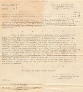 Letter For Bronze Star Medal