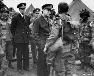 Eisenhower Visits Troops In England