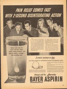 Bayer Aspirin Ad, 1945