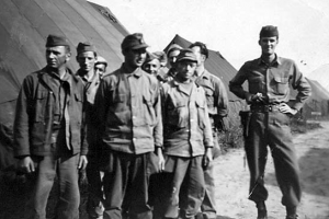 Guarding German POWs at Camp Tophat